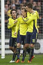 Michael Krohn-Dehli, m�lscorer (Br�ndby IF), Nicolaj Agger (Br�ndby IF), Mathias Gehrt (Br�ndby IF)