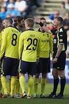 Michael Svendsen, dommer, Daniel Wass (Br�ndby IF), Mikael Nilsson (Br�ndby IF), Mikael Nilsson (Br�ndby IF)