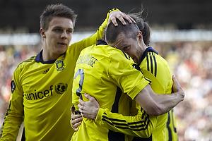 Mikael Nilsson, m�lscorer (Br�ndby IF), Max von Schlebr�gge (Br�ndby IF), Nicolaj Agger (Br�ndby IF)
