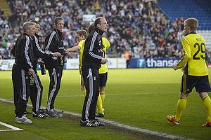 Henrik Jensen, cheftr�ner (Br�ndby IF), Kim Daugaard, assistenttr�ner (Br�ndby IF), Rene Skovdahl (Br�ndby IF), Daniel Wass (Br�ndby IF)