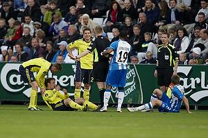 Michael Svendsen, dommer, Jan Kristiansen (Br�ndby IF), Mike Jensen (Br�ndby IF), Jan Frederiksen (Br�ndby IF)