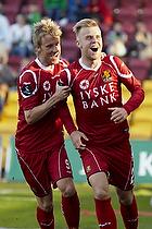 Tobias Mikkelsen (FC Nordsj�lland), Matti Lund Nielsen, m�lscorer (FC Nordsj�lland)