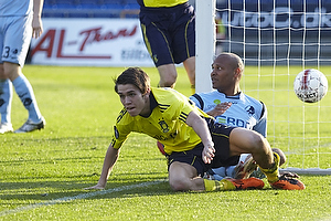 David Ousted (Randers FC), Mathias Gehrt , m�lscorer (Br�ndby IF)