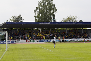 Br�ndbyfans p� Lyngby Stadion