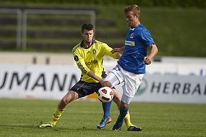Daniel Stenderup (Br�ndby IF), Patrick Mortensen (Lyngby BK)