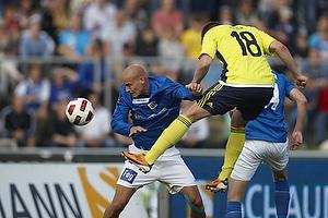 Nicolaj Agger (Br�ndby IF) scorer med hovedet