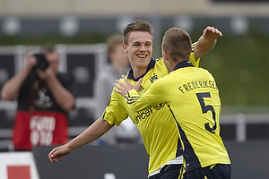 Nicolaj Agger, m�lscorer (Br�ndby IF), Jan Frederiksen (Br�ndby IF)