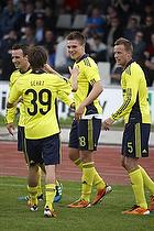 Nicolaj Agger, m�lscorer (Br�ndby IF), Mike Jensen (Br�ndby IF), Mathias Gehrt (Br�ndby IF), Jan Frederiksen (Br�ndby IF)