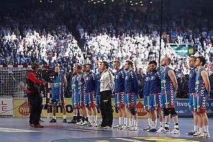 Hele AG K�benhavn holdet til nationalsang i Parken