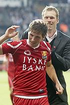 Morten Wieghorst, cheftr�ner (FC Nordsj�lland), S�ren Christensen (FC Nordsj�lland)