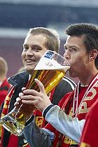 Jesper Hansen (FC Nordsj�lland) drikker �l