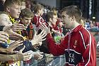 FCN-fans hilser p� Andreas Laudrup (FC Nordsj�lland)