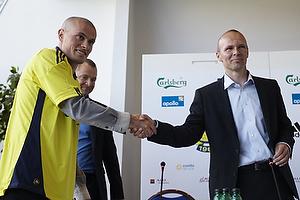 Jan Lockhart (Br�ndby IF), Mikkel Thygesen (Br�ndby IF), Ole Bjur, sportschef (Br�ndby IF)
