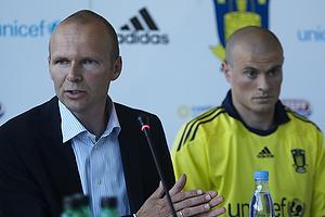 Ole Bjur, sportschef (Br�ndby IF), Mikkel Thygesen (Br�ndby IF)