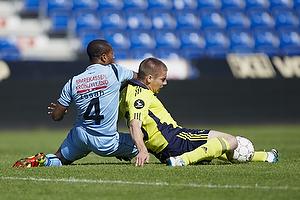 Issah Ahmed (Randers FC), Martin Bernburg (Br�ndby IF)