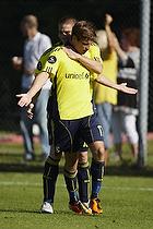 Jens Larsen, m�lscorer (Br�ndby IF), Martin Bernburg (Br�ndby IF)