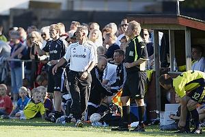 Kim Daugaard, assistenttr�ner (Br�ndby IF), Henrik Jensen, cheftr�ner (Br�ndby IF)