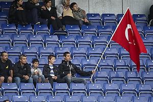 Tyrkiske fans p� Br�ndby Stadion
