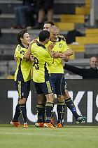 Mikkel Thygesen, m�lscorer (Br�ndby IF), Osama Akharraz (Br�ndby IF), Alexander Green (Br�ndby IF), Brent McGrath (Br�ndby IF)