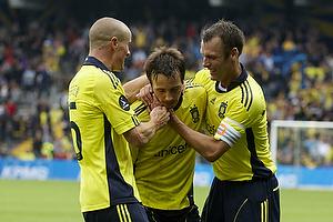 Mike Jensen, m�lscorer (Br�ndby IF), Mikkel Thygesen (Br�ndby IF), Thomas Rasmussen (Br�ndby IF)