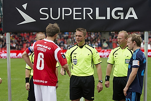 Jakob Kehlet, dommer, Martin �rnskov, anf�rer (Silkeborg IF), Michael Krohn-Dehli, anf�rer (Br�ndby IF)