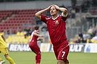 Nicolai Stokholm, anf�rer (FC Nordsj�lland) tager sig til hovedet efter en afbr�nder