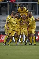 Anders N�hr, m�lscorer (AC Horsens), Niels Lodberg (AC Horsens), Martin Spelmann (AC Horsens), Janus Mats Drachmann (AC Horsens)