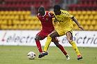 Enock Kofi Adu (FC Nordsj�lland), Gilberto Macena (AC Horsens)
