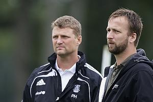 Anders Bjerregaard og Peer F. Hansen, assistenttr�ner (Br�ndby IF)