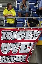 Ingen over klubben banner p� �vre tribune p� Sydsiden