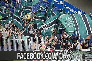 SV Ried fans i udebaneafsnittet p� Br�ndby Stadion