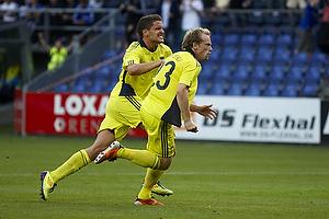 Michael Krohn-Dehli, m�lscorer (Br�ndby IF) scorer p� straffespark, Jan Kristiansen (Br�ndby IF)