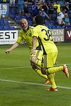 Osama Akharraz, m�lscorer (Br�ndby IF), Mikkel Thygesen (Br�ndby IF)