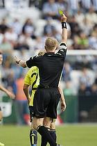 Michael Svendsen, dommer giver advarsel til Michael Krohn-Dehli (Br�ndby IF)