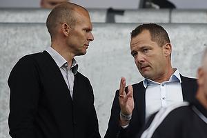 Ole Bjur, sportschef (Br�ndby IF), Jan Lockhart, adm. direkt�r (Br�ndby IF)
