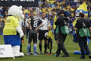 Henrik Hansen, anf�rer (S�nderjyskE), Clarence Goodson, anf�rer (Br�ndby IF), Michael Johansen, dommer