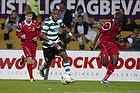 Evaldo Fabiano (Sporting Lissabon), Jores Okore (FC Nordsj�lland)