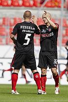 Kristian Bak Nielsen, anf�rer (FC Midtjylland), Martin Albrechtsen (FC Midtjylland)