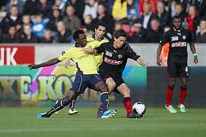 Oluwafemi Ajilore (Br�ndby IF), Mads Winther Alb�k (FC Midtjylland)