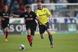 Mikkel Thygesen (Br�ndby IF), Jesper Lauridsen (FC Midtjylland)