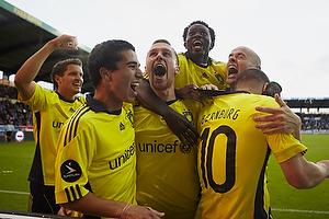Osama Akharraz (Br�ndby IF), Brent McGrath, anf�rer (Br�ndby IF), Martin Bernburg, m�lscorer (Br�ndby IF), Mikkel Thygesen (Br�ndby IF), Jan Kristiansen (Br�ndby IF)