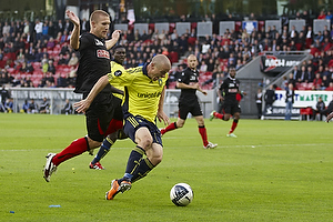 Mikkel Thygesen (Br�ndby IF), Martin Albrechtsen (FC Midtjylland)
