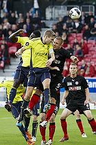 Martin Albrechtsen (FC Midtjylland), Clarence Goodson, anf�rer (Br�ndby IF)