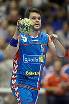 Arnor Atlason (AG K�benhavn) dirigerer med bolden