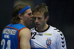 Joachim Boldsen (AG K�benhavn) hvisker til Steinar Ege (AG K�benhavn)