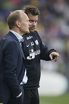 Niels Frederiksen, cheftr�ner (Lyngby BK), Jack Majgaard, assistenttr�ner (Lyngby BK)