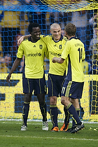 Mikkel Thygesen (Br�ndby IF), Dennis Rommedahl (Br�ndby IF), Oluwafemi Ajilore (Br�ndby IF)