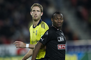 Clarence Goodson, anf�rer (Br�ndby IF), Sylvester Igboun (FC Midtjylland)