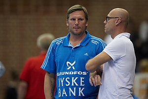 Magnus Andersson, cheftr�ner (AG K�benhavn), Nikolaj Jacobsen, assistenttr�ner  (Bjerringbro-Silkeborg)
