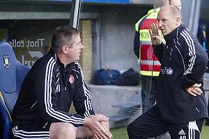 Kent Nielsen, cheftr�ner (Aab), Auri Skarbalius, cheftr�ner (Br�ndby IF)